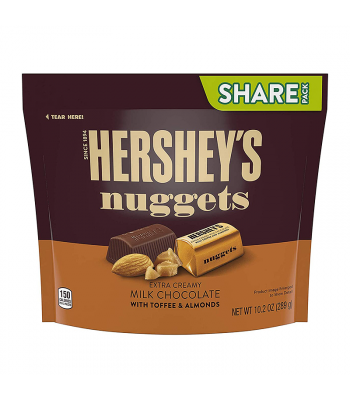 Hersheys Nuggets Milk Chocolate with Toffee & Almond - 10.2oz (289g)