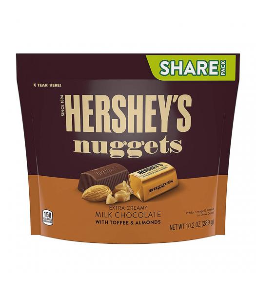 Hersheys Nuggets Milk Chocolate with Toffee & Almond - 10.2oz (289g)
