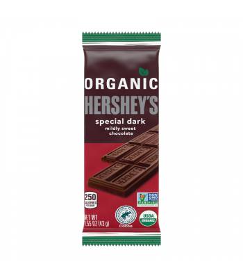Hershey's Organic Dark Chocolate Bar - 1.55oz (43g) Sweets and Candy Hershey's