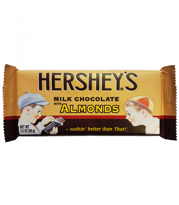 Clearance Special - Hershey's Retro Milk Chocolate with Almonds Bar 3.5oz (99g) ** Best Before: March 2017 ** Clearance Zone