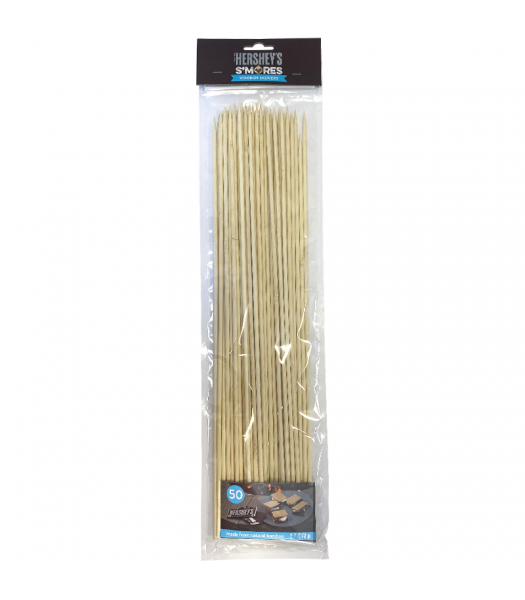 Hershey's S'mores Wooden Bamboo Skewers 15.7inch (40cm) - 50-Piece Non Food Hershey's