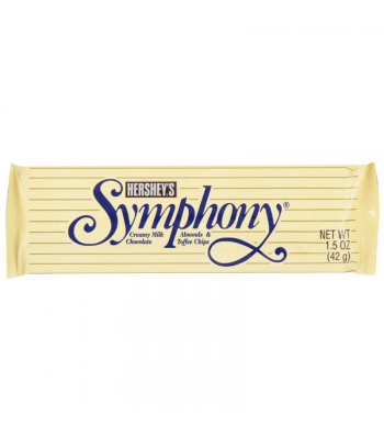 Clearance Special - Hershey's Symphony Almonds & Toffee Bar 1.5oz (42g) **Best Before: March 17** Clearance Zone