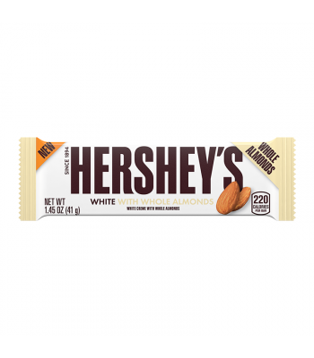 Hershey's White Crème w/ Whole Almonds Bar - 1.45oz (41g) Sweets and Candy Hershey's