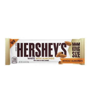 Hershey's White Crème w/ Whole Almonds King Size Bar - 2.6oz (73g)