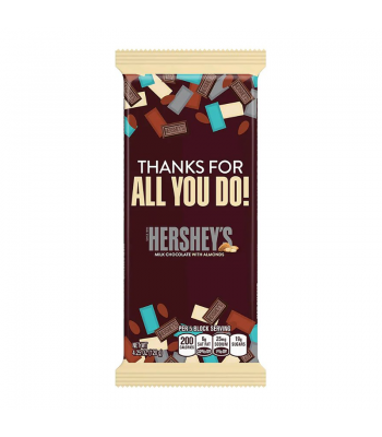 Hershey's Milk Chocolate with Almonds Appreciation Bar 4.25oz (120g) Sweets and Candy Hershey's