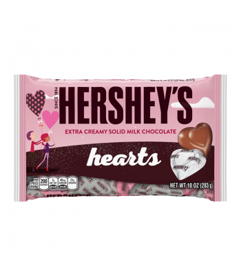 Hershey's Extra Creamy Milk Chocolate Hearts 10oz (283g) Sweets and Candy Hershey's