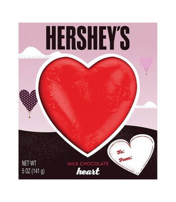 Hershey's Valentine Milk Chocolate Heart 5oz (141g) Sweets and Candy Hershey's