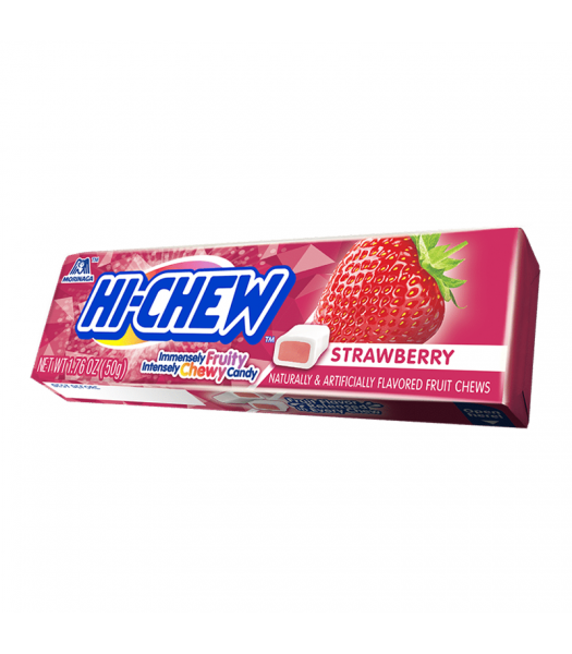 Hi-Chew Fruit Chews Strawberry 1.75oz (50g) Sweets and Candy HI-CHEW