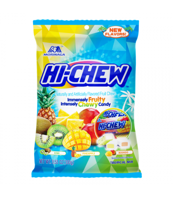 Hi-Chew Tropical Mix Peg Bag - 3.53oz (100g) Sweets and Candy