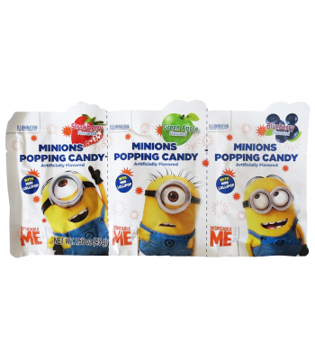 Minions Popping Candy 3-Pack 1.58oz (45g) Soft Candy