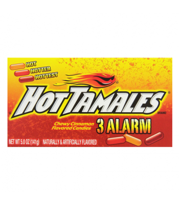 Hot Tamales 3 Alarm Theatre Box Candy 5oz (141g) Hard Candy Hot Tamales
