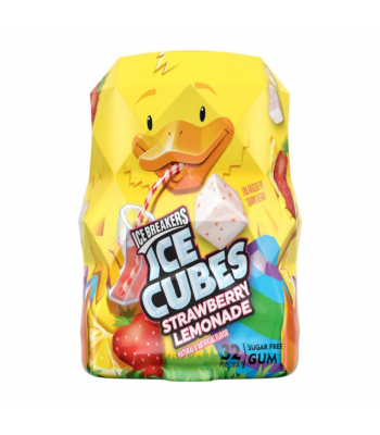Ice Breakers Cubes Strawberry Lemonade Gum Duck - 2.60oz (74g) Sweets and Candy Ice Breakers