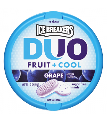 Clearance Special - Ice Breakers DUO Grape Mints 1.3oz (36g) ** Best Before: March 2017 ** Clearance Zone