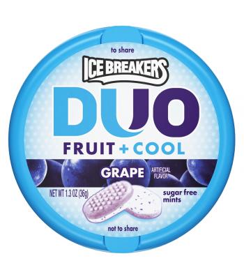 Ice Breakers Duo - Grape Mints - 1.3oz (36g) Bubble Gum Ice Breakers