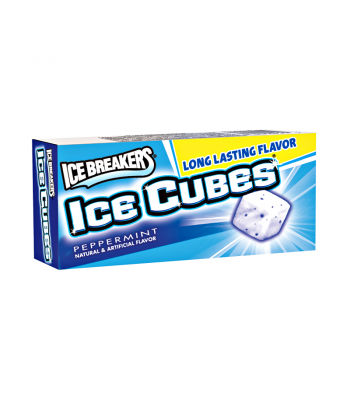 Ice Breakers Ice Cubes Sugar Free Gum - Peppermint - 10 Cube Pack Bubble Gum Ice Breakers