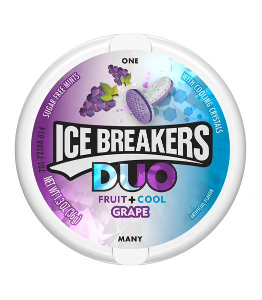 Ice Breakers Duo - Grape Mints - 1.3oz (36g) Bubble Gum Ice Breakers