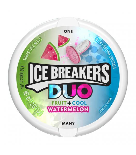 Ice Breakers DUO Watermelon Mints 1.3oz (36g) Hard Candy Ice Breakers