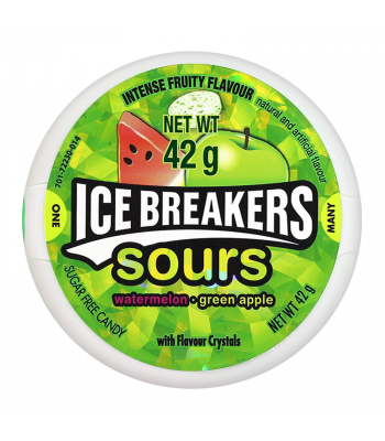 Ice Breakers Sours Watermelon & Green Apple (42g) Sweets and Candy Ice Breakers