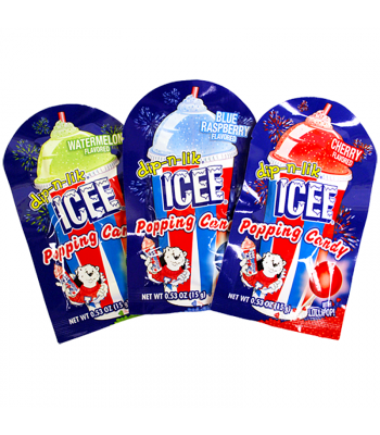 ICEE dip-n-lik Popping Candy 0.53oz (15g) Hard Candy ICEE