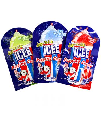 ICEE dip-n-lik Popping Candy 0.53oz (15g) Hard Candy ICEE