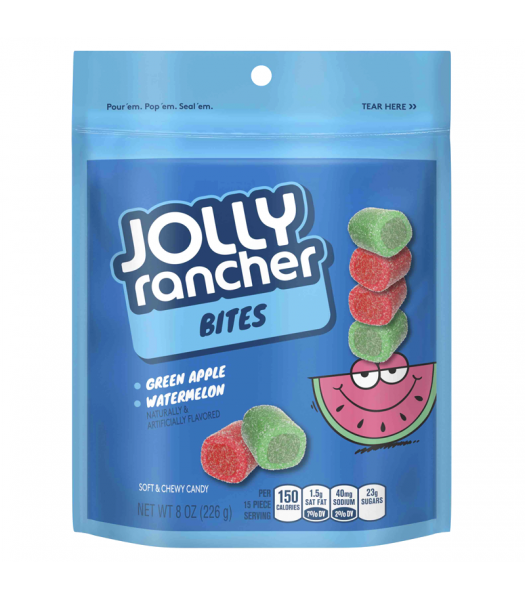 Jolly Rancher Bites Green Apple & Watermelon Soft & Chewy Candy - 8oz (226g) Soft Candy Jolly Rancher