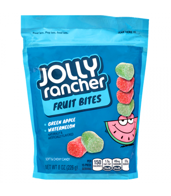 Jolly Rancher Fruit Bites Resealable Pouch 8oz (226g) Soft Candy Jolly Rancher