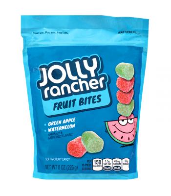Jolly Rancher Fruit Bites Resealable Pouch 8oz (226g) Soft Candy Jolly Rancher