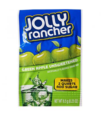 Jolly Rancher Unsweetened Drink Mix Sachet - Green Apple - 0.23oz (6.5g) Drink Mixes Jolly Rancher