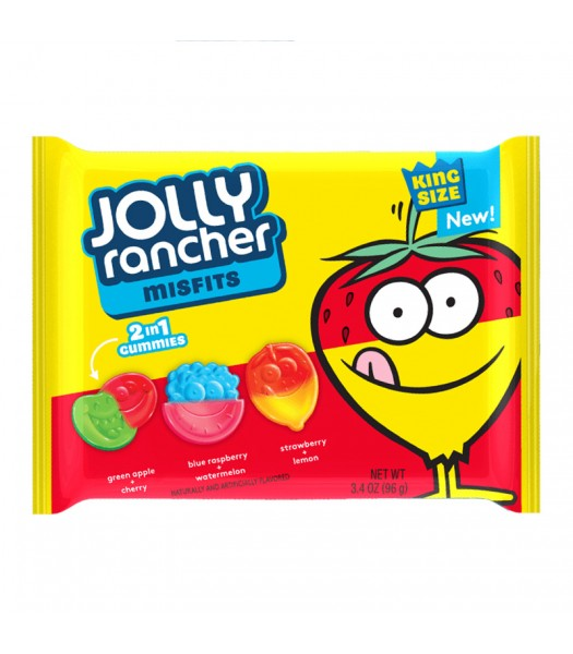 Jolly Rancher Misfits Gummy Candy 3.4oz (96g) Sweets and Candy Jolly Rancher