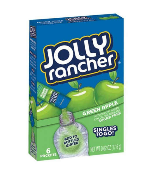 Jolly Rancher Singles To Go  - Green Apple Drink Mix Drink Mixes Jolly Rancher