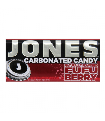 Jones Soda Carbonated Candy - Fufu Berry 0.8oz (28g) Hard Candy Jones Soda