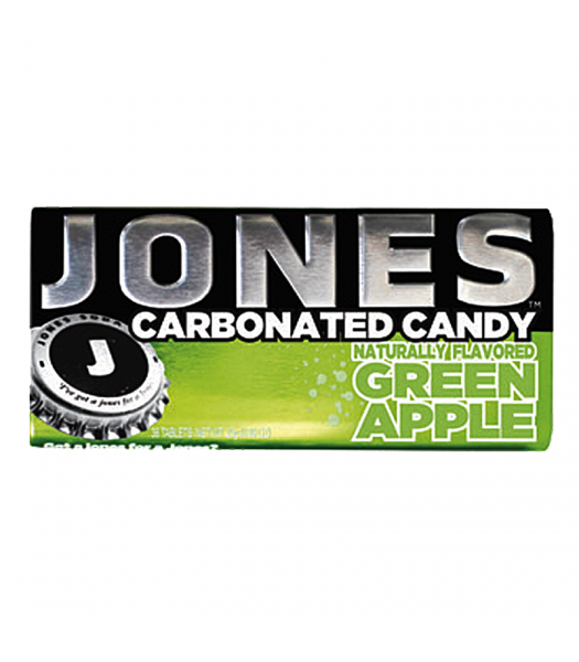 Jones Soda Carbonated Candy - Green Apple 0.8oz (28g) Hard Candy Jones Soda