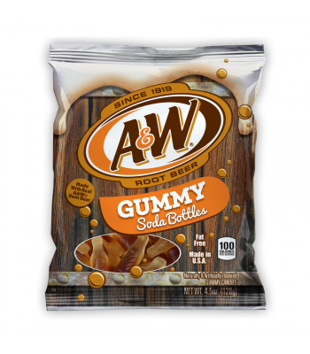 Kenny's A&W Root Beer Gummy Soda Bottles 4.5oz (128g)