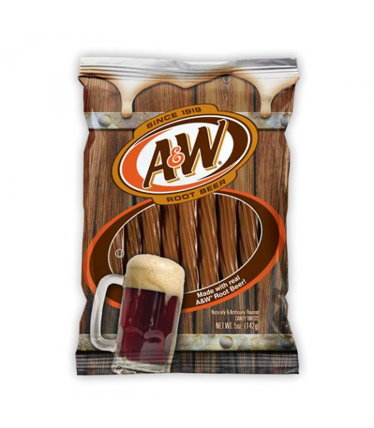 Kenny's A&W Root Beer Twists 5oz (142g) Soft Candy Kenny's