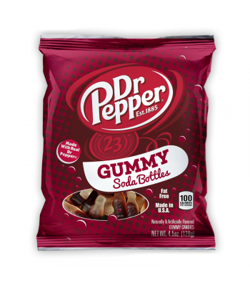 Kenny's Dr Pepper Gummy Soda Bottles 4.5oz (128g) Soft Candy Kenny's