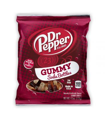 Kenny's Dr Pepper Gummy Soda Bottles 4.5oz (128g)