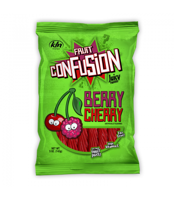 Kenny's Fruit Confusion Twists Berry Cherry 5oz (142g) Soft Candy Kenny's