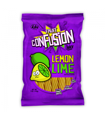 Kenny's Fruit Confusion Twists Lemon Lime 5oz (142g) Soft Candy Kenny's
