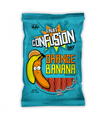 Kenny's Fruit Confusion Twists Orange Banana 5oz (142g) Soft Candy Kenny's