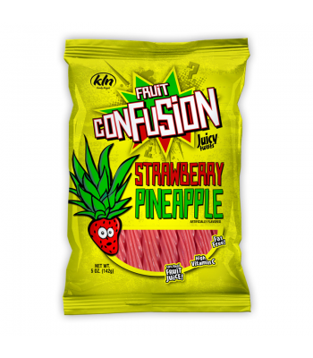 Kenny's Fruit Confusion Twists Strawberry Pineapple 5oz (142g) Soft Candy Kenny's