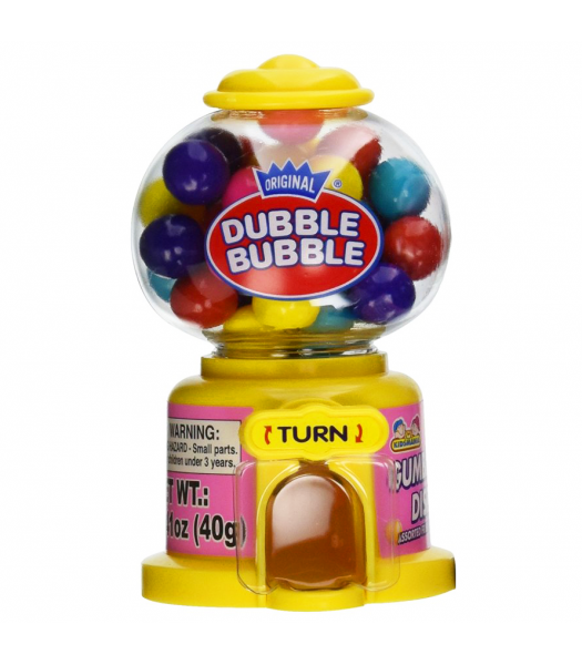Kidsmania Mini Dubble Bubble Gum Ball Machine - 1.41oz (40g) Sweets and Candy Dubble Bubble