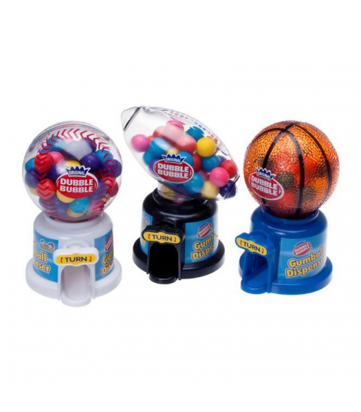 Kidsmania Dubble Bubble Hot Sports Gum Ball Dispenser - 1.41oz (40g) Sweets and Candy Kidsmania