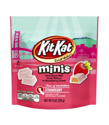 Kit Kat Minis Flavour of California - Strawberry - 8oz (226g) Chocolate, Bars & Treats Kit Kat