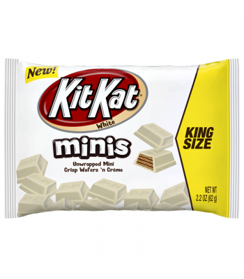 Kit Kat White Chocolate Unwrapped Minis - King Size - 2.2oz (62g) Chocolate, Bars & Treats Kit Kat