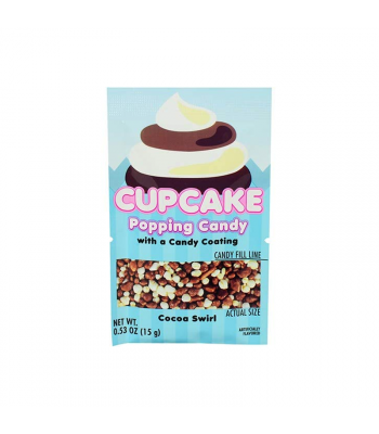 Koko's Cupcake Popping Candy w/ Candy Coating - 0.53oz (15g) Sweets and Candy