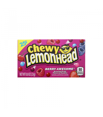 Chewy Lemonhead - Berry Awesome - 0.8oz (23g) Soft Candy Ferrara