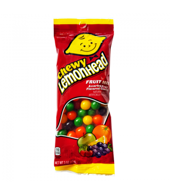 Chewy Lemonheads Assorted Fruit Mix Flex Peg Bag - 3oz (85g) Soft Candy Ferrara