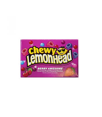 Clearance Special - Chewy Lemonhead - Berry Awesome - Fun Size Box (10g) **DAMAGED** Clearance Zone