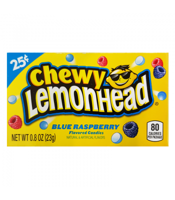 Ferrara Pan Chewy Lemonhead Blue Raspberry 0.8oz (23g) Box Soft Candy Ferrara