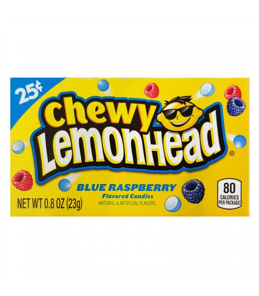 Chewy Lemonhead - Blue Raspberry - 0.8oz (23g) Box Soft Candy Ferrara